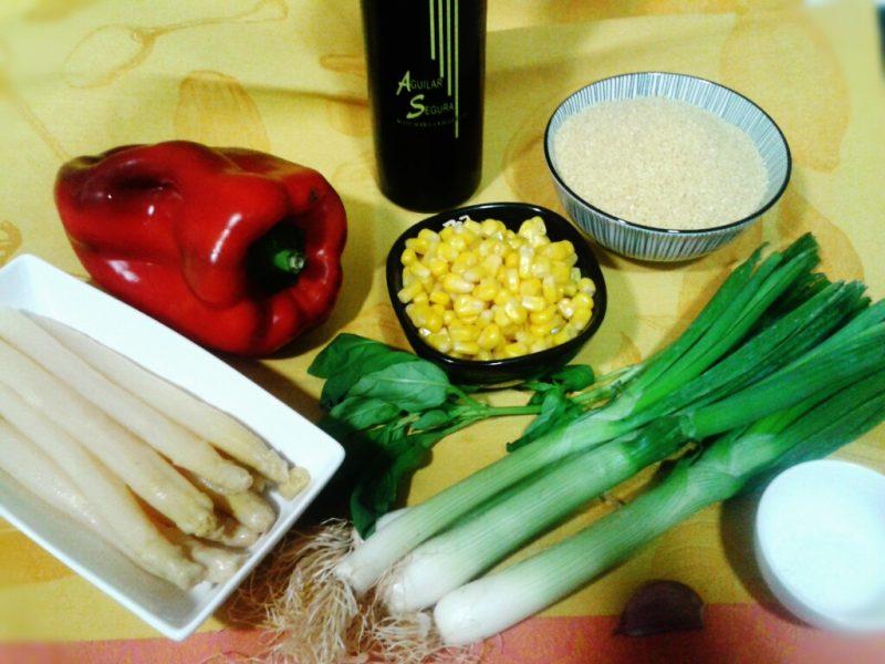 ingredientes cous cous con verduras
