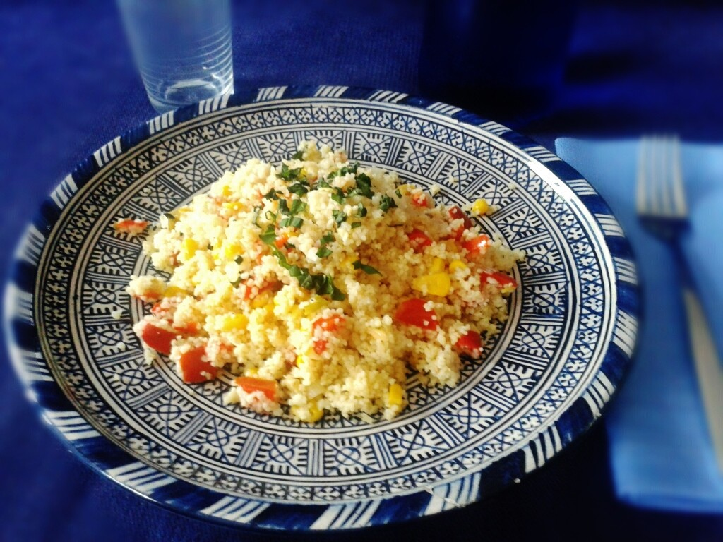Plato de cous cous con verduras