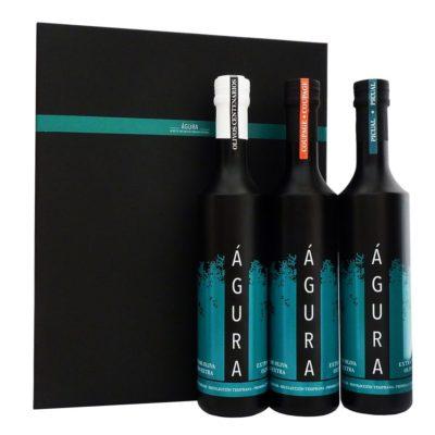 tres variedades de aceite de oliva virgen extra