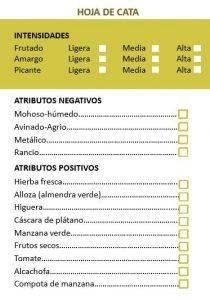 Ficha de cata de aceite de oliva
