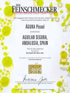 Diploma premio gastronómico Alemania