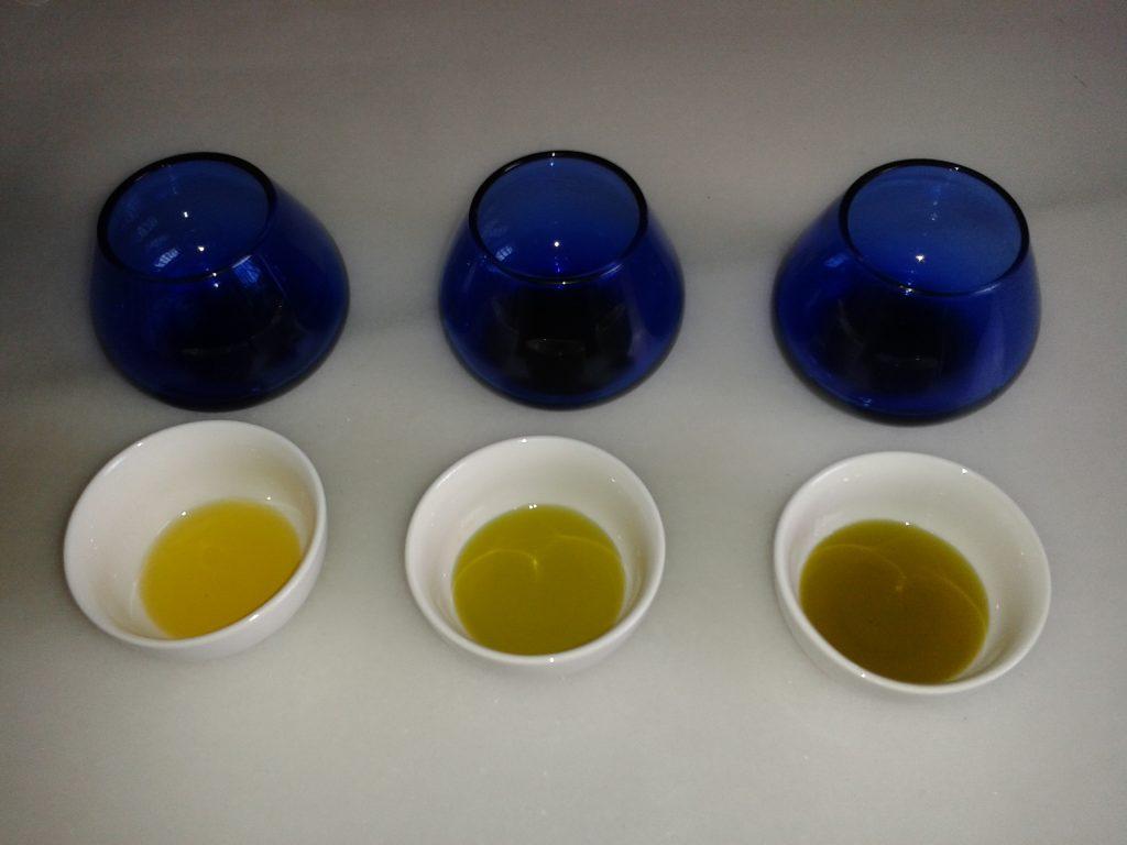 copas de cata de aceite
